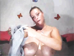 This sultry mother I'd like to fuck is a uncommon specimen with a divine couple of large tits
