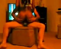 Long haired sexbomb drilled bad in a doggy position