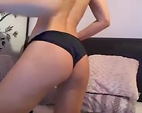 Amateur hot dark brown honey was bragging of her ideal large tits