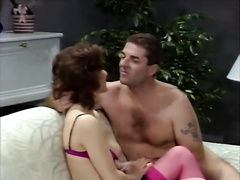 Horny and sexy honey got her fur pie group-fucked by her paramour