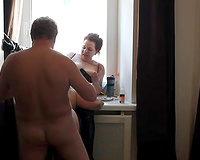 Fucking my Russian hotwife during the time that this babe eating Arab mother I'd like to fuck