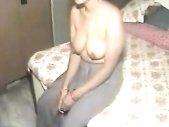 Missionary style fuck with my Indian plump amateur wife on web camera