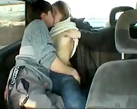 Fucking my sex addicted legal age teenager girlfriend in my car on dashcam