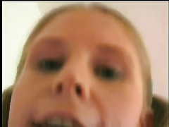 Naughty blond teenie in a nasty porn act with 2 chaps