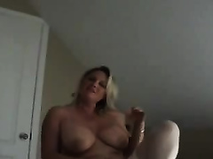 My agreeable amateur wife with large whoppers likes it from behind