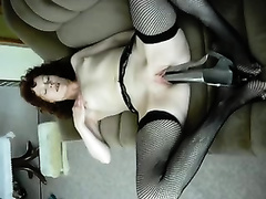 My excited slender white wife pleses her wet slit with speculum