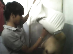 Indonesian legal age teenager want to be drilled hard in a doggy position