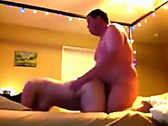 Horny uncle bangs big beautiful woman black cock sluts in a doggy position