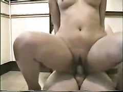 Young and lustful Indian honey rides me on top on the kitchen floor