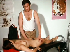 Adorable German blonde floozy receives horny during massage