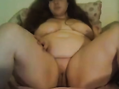 Really voluptuous non-professional glamorous big beautiful woman flashes her fine large melons