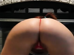 Exquisite thick wazoo from sexy redhead white skank