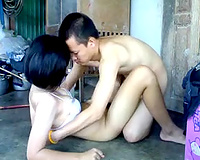 I drill constricted wet fur pie of my charming Thai girlfriend