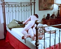 Full bosomed golden-haired head doxy receives painful doggy pose drilling