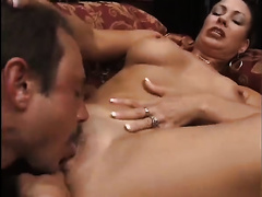 Brunette milfie with C cups and round a-hole blows like a vacuum cleaner