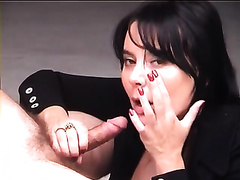 My delicious brunette hair hawt slutwife blows my rod once more