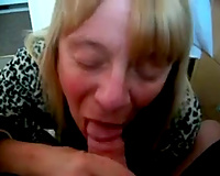 Wrinkled mature golden-haired haired neighbour gave me oral pleasure on my livecam