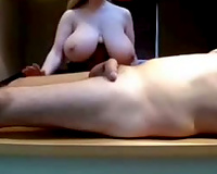 Big breasted masseuse knows how to treat my rock hard cock