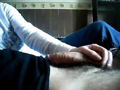 English horny white wife gives me unforgettable cook jerking in the morning