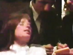 Retro homemade movie scene of my parents having a sex party