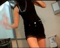 My beautiful model girlfriend changing raiment on livecam