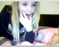 Beautiful blond college hotwife chatted with me on cam