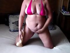 Sandrine bulky milf trying monster marital-device