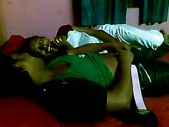 Dark skin Bangladeshi sweetheart puts rock hard knob in her throat