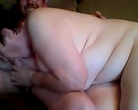 My old chunky girl gives me cook jerking and I finger fuck her twat