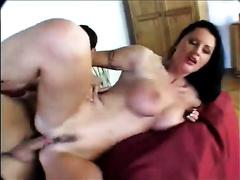 Big breasted torrid brunette playgirl got drilled in n sideways style