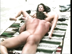 Horny Latina cutie enjoys bizarre flying 69 pose sex with her white dude