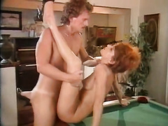 Adorable bushy redhead doxy receives her fur pie destructed