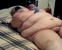 Tied up unattractive overweight whore is expecting for torment