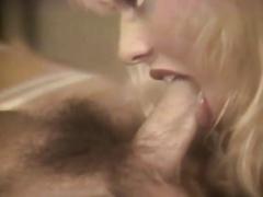 Retro blond slut with awesome wang engulfing skills