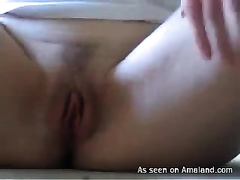 Sexy girlfriend of my buddy showing her vagina on livecam