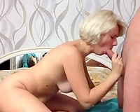 Blonde older Russian white wife shows that this babe can't live without vehement sex