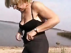 Wife's lusty older mamma positions on my webcam on the sun shiny beach