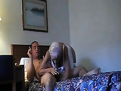 Grey haired excited bitchie wife sucked my friend's lollicock