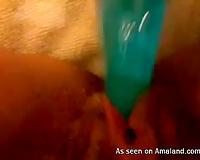 My limber shaggy love tunnel on POV non-professional sex movie scene at home