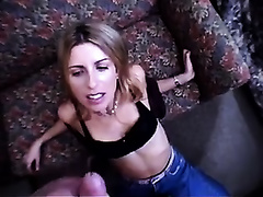 My perverted horny white wife allowed me to make this facial video for the 1st time