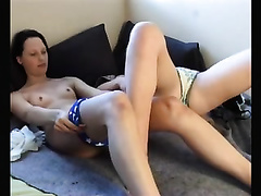 Tow lewd and perverted allies masturbating next to every other