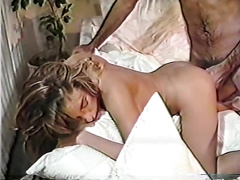 Delightful hairy golden-haired acquires her unreally wet muff drilled