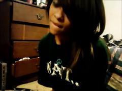 Ebony legal age teenager livecam masturbation in her room at night