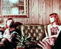 A precious vintage porn video with charming youthful redhead gals