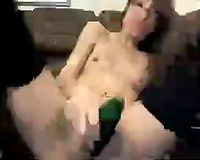 Beautiful and slim nerdy housewife going completely mad