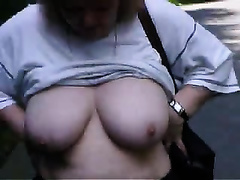 58 years old mature big beautiful woman hotwife undresses in the woods for me