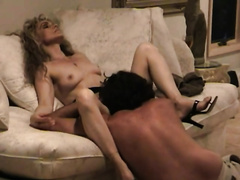Blond haired mother I'd like to fuck in high heels got her wet wet crack licked by my buddy