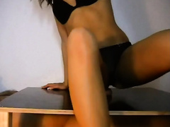 Cute skinny Married slut was teasing me with her just wonderful arousing solo show