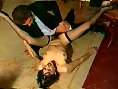 Cute hottie in nylons shows her readiness to fuck