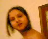 Pretty non-professional black skinned Indian gal accedes to dance on my livecam